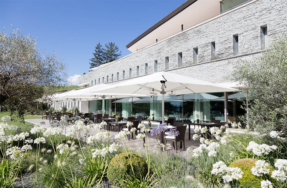 Clinique La Prairie Gastronomic Restaurant Terrace